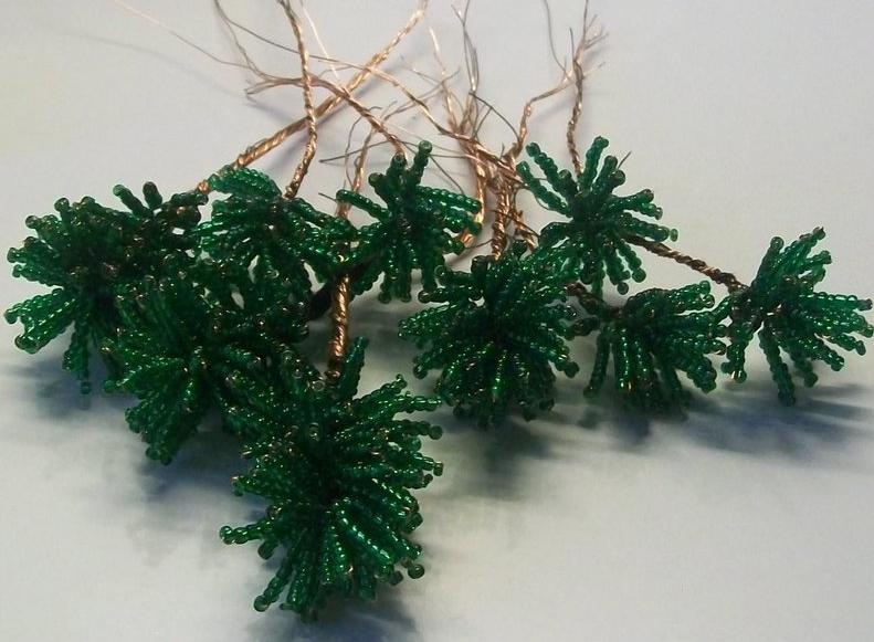 Игольчатое плетение бисером