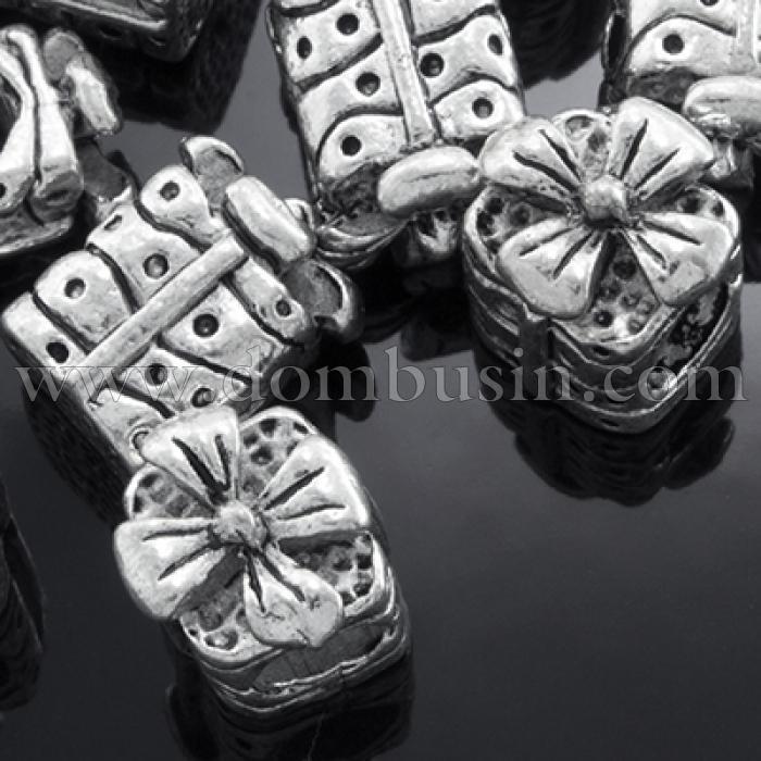 Шармы Евробусины, Металл Тибетского Стиля, Подарок, Цвет: Античное Серебро