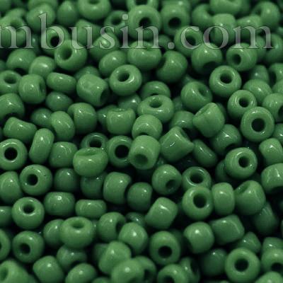 Бисер Китайский 12/0, Непрозрачный (OCS), Цвет: Зеленый 47, Круглый, (УТ0003882)