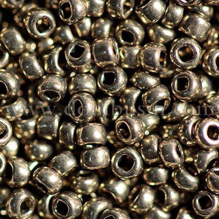 Бисер 18542 Чешский Preciosa 10/0, Солгель Металлик CSM, Серый, Круглый, (УТ100006460)
