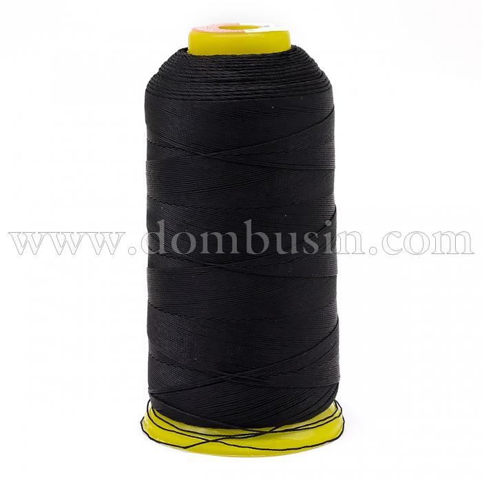 Нить Полиэстер Швейная в катушках, Цвет: Черный, Толщина 0.5мм, около 870м/1катушка, (УТ100005580)
