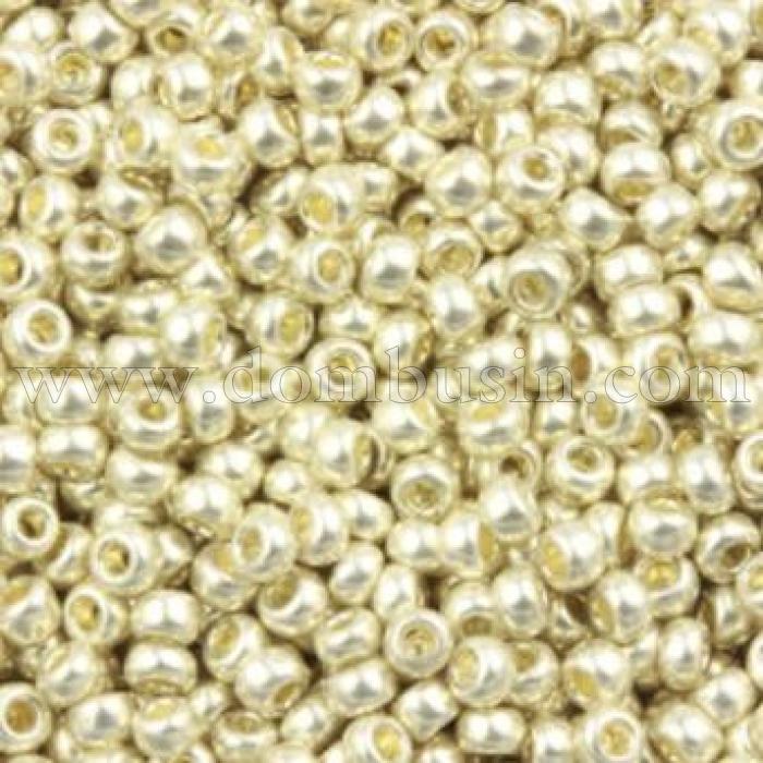 Бисер 18503 Чешский Preciosa 10/0, Солгель металлик CSM, Серый, Круглый, (УТ100007352)