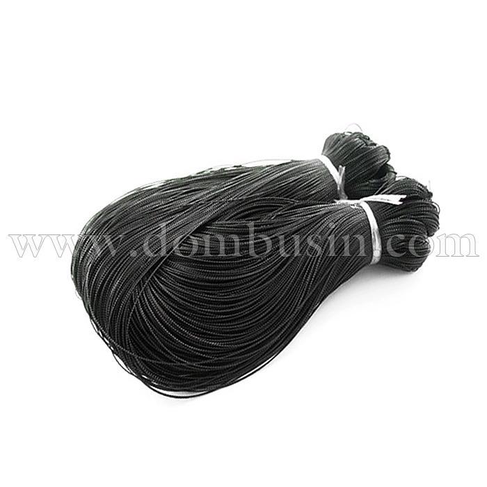 Шнур Металлический, Цвет: Черный, Размер: Диаметр 0.8мм, около 100м/связка, (УТ100015654)