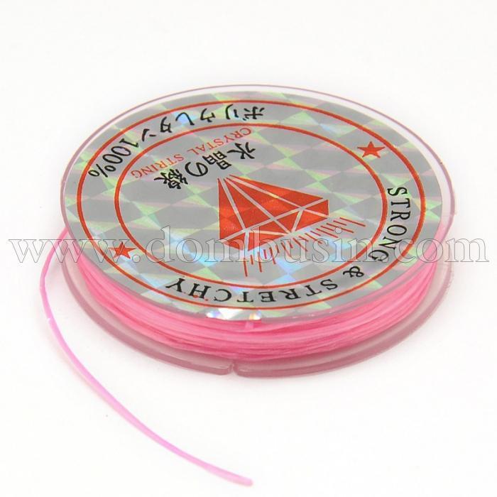 Нить Упругая Эластичная 0.6мм/10м, Цвет: Розовый, Толщина 0.6мм, около 10м/1катушка, (УТ100015657)