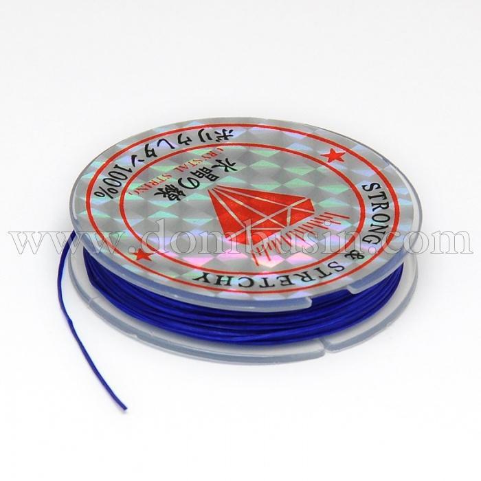Нить Упругая Эластичная 0.6мм/10м, Цвет: Синий, Толщина 0.6мм, около 10м/1катушка, (УТ100015658)