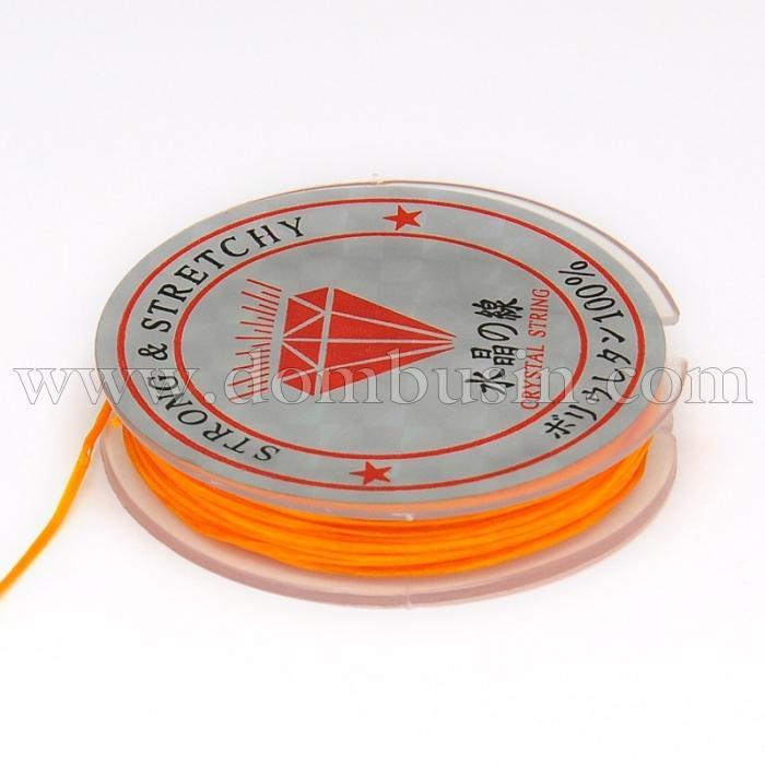 Нить Упругая Эластичная 0.6мм/10м, Цвет: Оранжевый, Толщина 0.6мм, около 10м/1катушка, (УТ100015659)