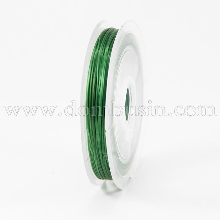 Нить Упругая Эластичная 0.6мм/10м, Цвет: Зеленый, Толщина 0.6мм, около 10м/1катушка, (УТ100015663)