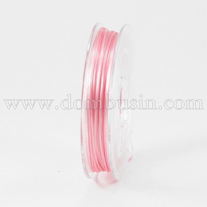 Нить Упругая Эластичная 0.8мм/10м, Цвет: Розовый, Толщина 0.8мм, около 10м/1катушка, (УТ100015667)