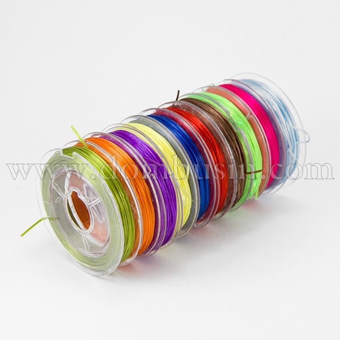 Нить Упругая Эластичная 0.5мм/10м, Цвет: Микс, Толщина 0.5мм, около 10м/катушка, 10катушек/набор, (УТ100015685)