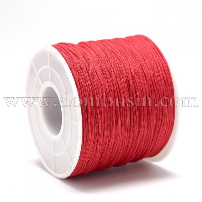 Шнур Полиэстер, Цвет: Красный, Размер: 0.4~0.5мм, 120~130м/катушка, (УТ100015757)