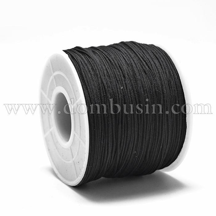 Шнур Полиэстер, Цвет: Черный, Размер: 0.4~0.5мм, 120~130м/катушка, (УТ100015758)
