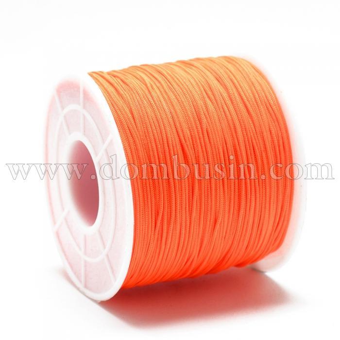 Шнур Полиэстер, Цвет: Оранжевый, Размер: 0.4~0.5мм, 120~130м/катушка, (УТ100015760)
