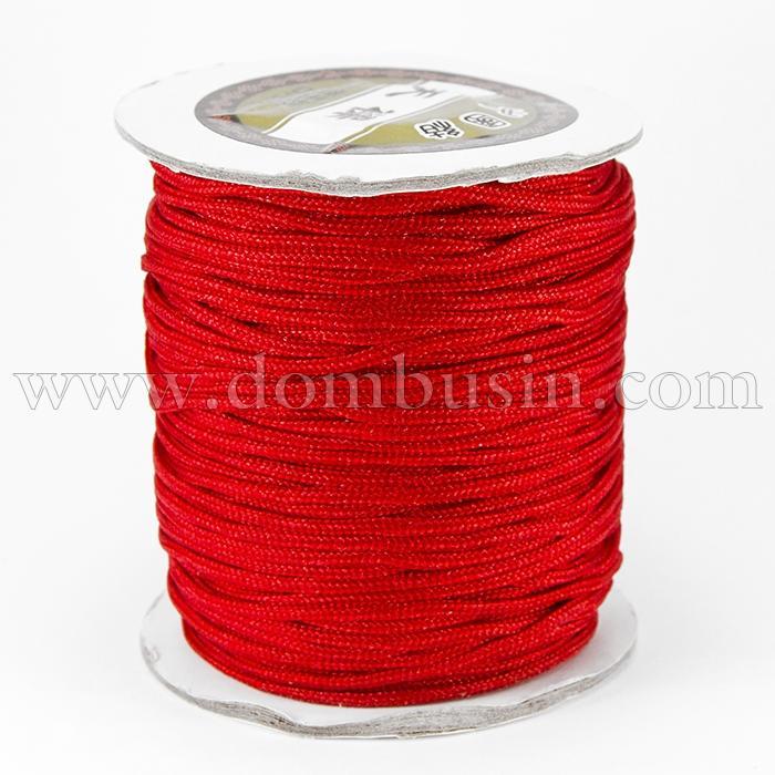 Шнур Нейлоновый, Цвет: Красный, Размер: Диаметр 2мм, (УТ100015782)