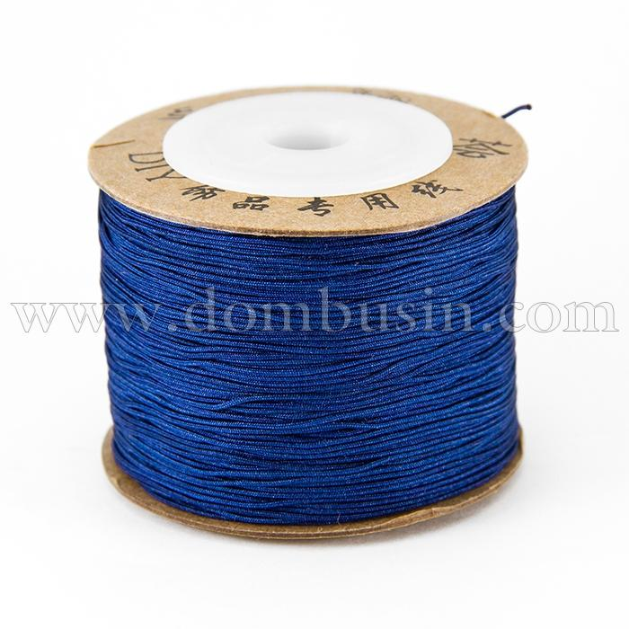 Шнур Нейлоновый, Цвет: Темно-синий, Размер: Диаметр 0.6мм, (УТ100015787)