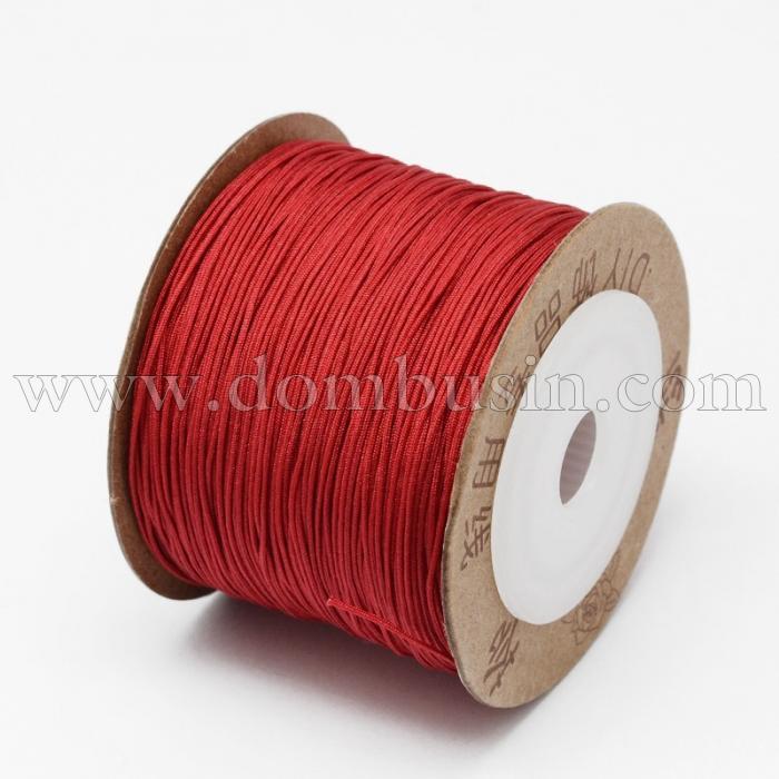 Шнур Нейлоновый, Цвет: Красный, Размер: Диаметр 0.6мм, (УТ100015788)
