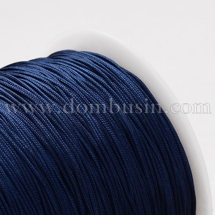 Шнур Полиэстер 1мм, для Нанизывания Бусин и Плетения Браслетов, Цвет: Темно-синий, Размер: 1мм, (УТ100015792)