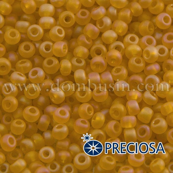 Бисер 80060 Чешский Preciosa 6/0, Прозрачный матовый TM, Оранжевый, Круглый, (УТ100015835)