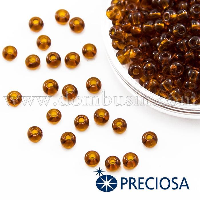 Бисер 10110 Чешский Preciosa 6/0, Прозрачный NT, Коричневый, Круглый, (УТ100015839)