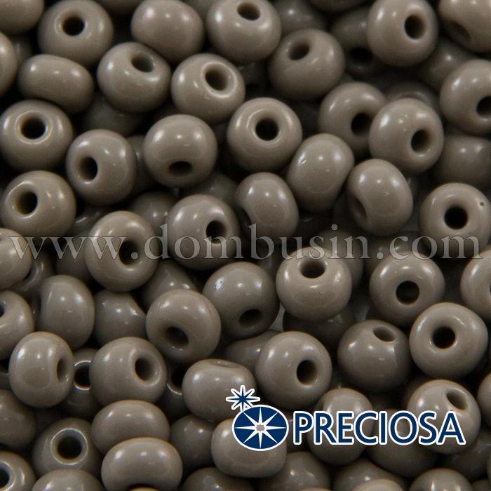 Бисер 43020 Чешский Preciosa 6/0, Естественный Непрозрачный NO, Серый, Круглый, (УТ100015849)