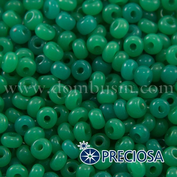 Бисер 52240 Чешский Preciosa 6/0, Естественный Непрозрачный NO, Зеленый, Круглый, (УТ100015854)