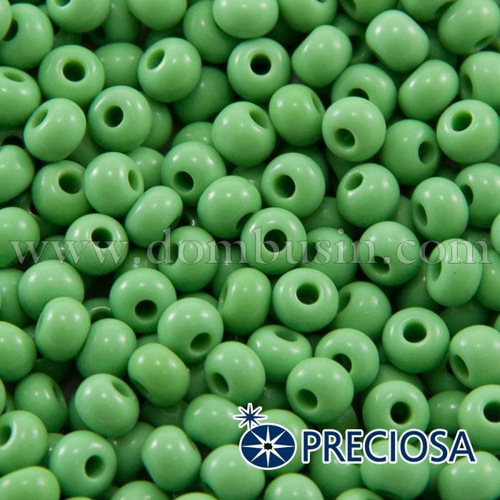 Бисер 53210 Чешский Preciosa 6/0, Естественный Непрозрачный NO, Зеленый, Круглый, (УТ100015855)