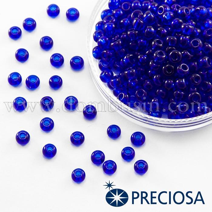 Бисер 60300 Чешский Preciosa 6/0, Прозрачный NT, Синий, Круглый, (УТ100015858)