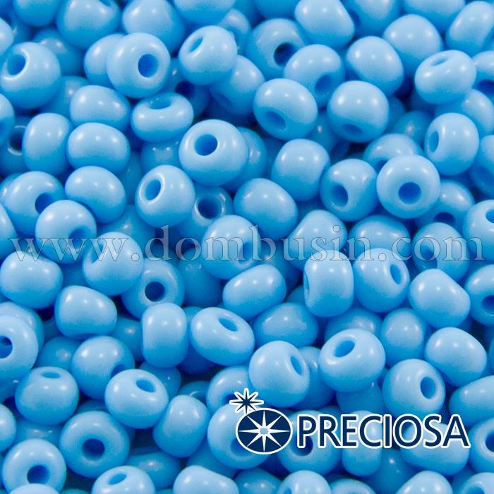 Бисер 63020 Чешский Preciosa 6/0, Естественный Непрозрачный NO, Голубой, Круглый, (УТ100015859)