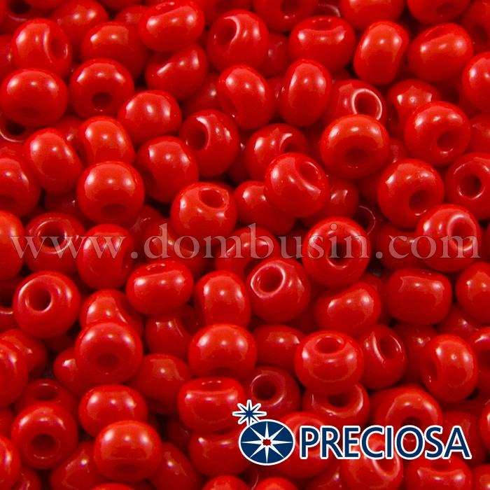 Бисер 93170 Чешский Preciosa 6/0, Естественный Непрозрачный NO, Красный, Круглый, (УТ100015865)