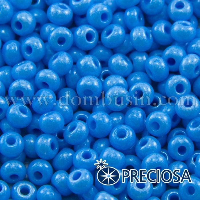 Бисер 16336 Чешский Preciosa 6/0, Солгель Окрашенный SDC, Голубой, Круглый, (УТ100015879)