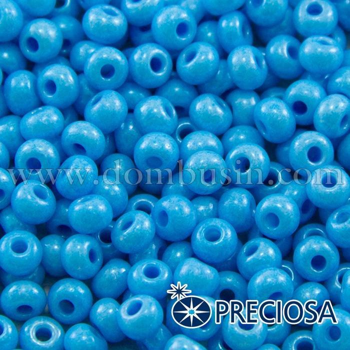 Бисер 16365 Чешский Preciosa 6/0, Солгель Окрашенный SDC, Синий, Круглый, (УТ100015882)