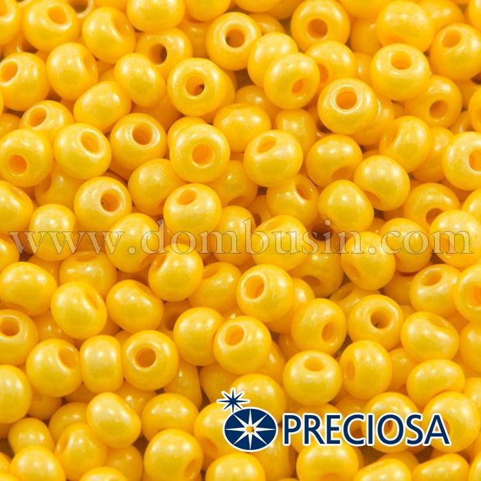 Бисер 16383 Чешский Preciosa 6/0, Солгель Окрашенный SDC, Желтый, Круглый, (УТ100015883)