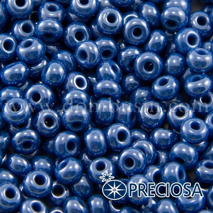 Бисер 38210 Чешский Preciosa 6/0, Непрозрачный Радужный OL, Синий, Круглый, (УТ100015892)