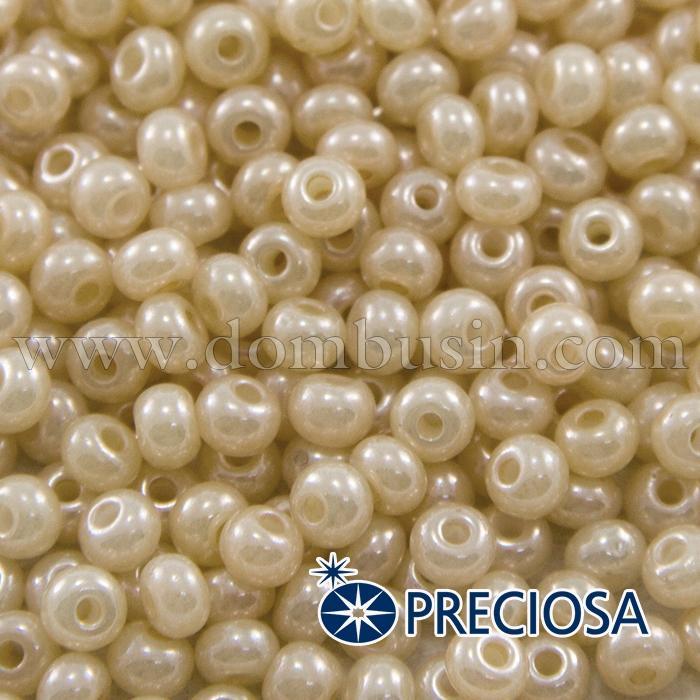 Бисер 46112 Чешский Preciosa 6/0, Жемчужный S, Бежевый, Круглый, (УТ100015912)