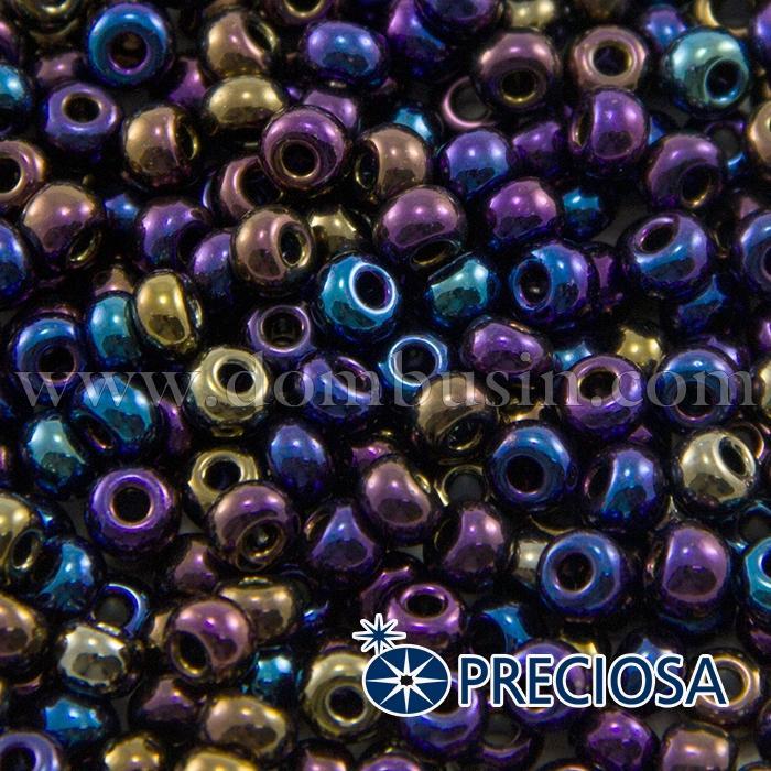 Бисер 59205 Чешский Preciosa 6/0, Непрозрачный Радужный OL, Синий, Круглый, (УТ100015920)