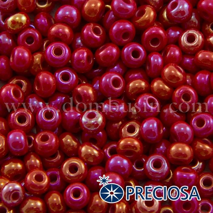 Бисер 94190 Чешский Preciosa 6/0, Непрозрачный Радужный OL, Красный, Круглый, (УТ100015924)