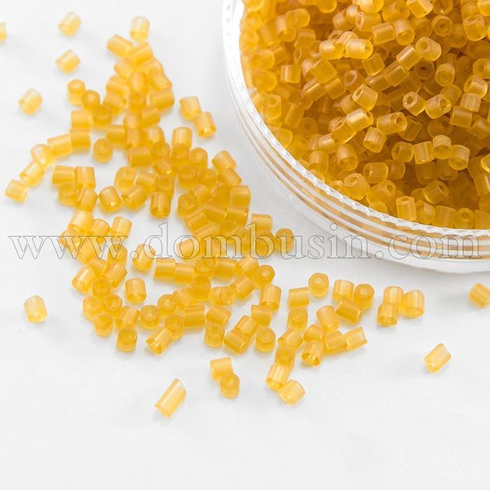 Бисер Рубка 35134/10050/10 Чешский Preciosa, Прозрачный матовый TM, Золотистый, (УТ100016034)