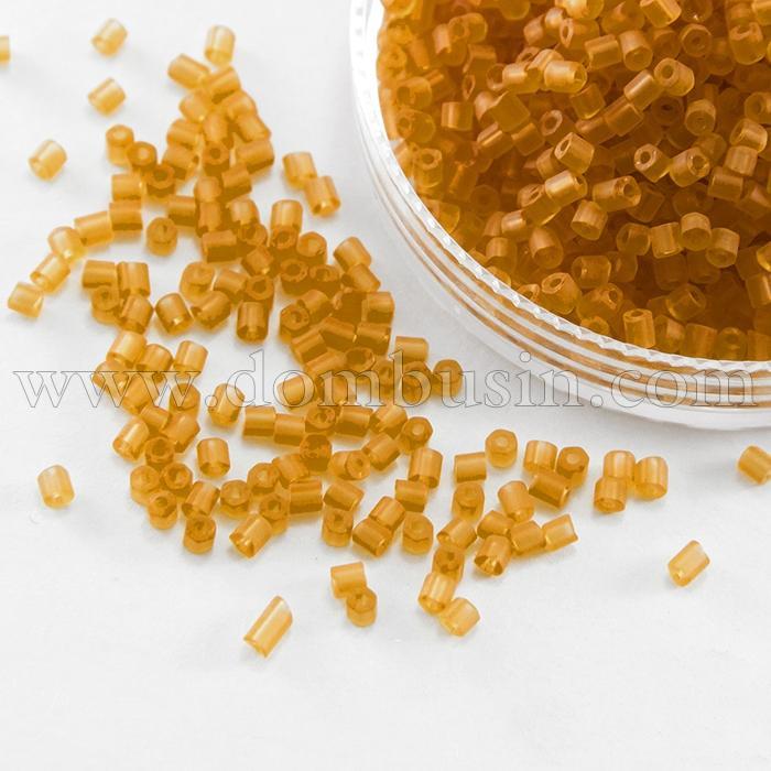 Бисер Рубка 35134/10070/10 Чешский Preciosa, Прозрачный матовый TM, Оранжевый, (УТ100016035)