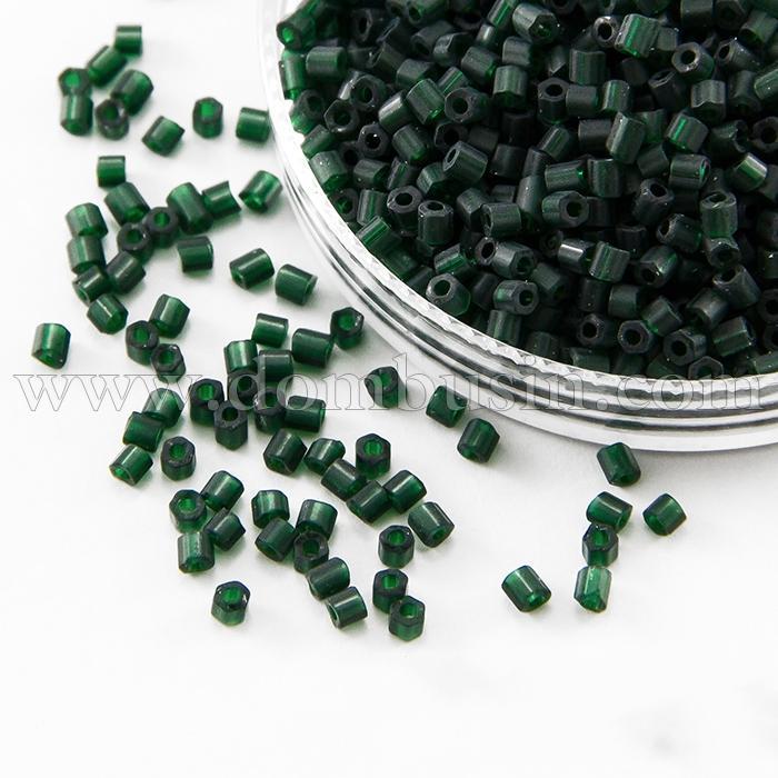 Бисер Рубка 35134/50620/10 Чешский Preciosa, Прозрачный матовый TM, Зеленый, (УТ100016059)