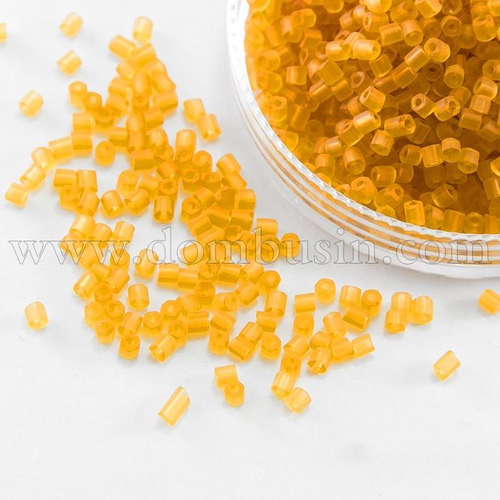 Бисер Рубка 35134/80060/10 Чешский Preciosa, Прозрачный матовый TM, Оранжевый, (УТ100016070)