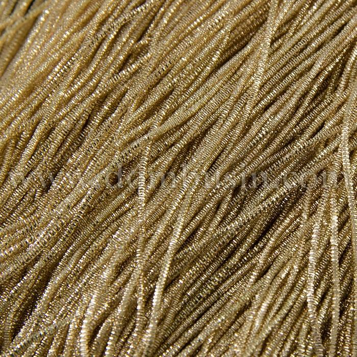 Канитель Трунцал 4 грани 1.5мм, Цвет: Светлое Золото T20, отрезки не менее 8см, около 180см/5г, (УТ100015954)
