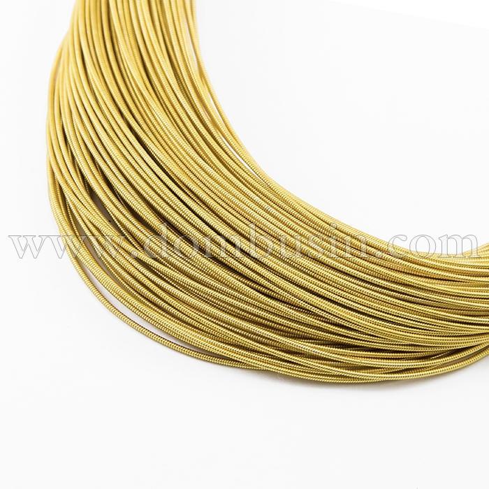 Канитель Жесткая 1мм, Цвет: Золото Классика H30, отрезки не менее 8см, около 130см/5г, (УТ100015982)