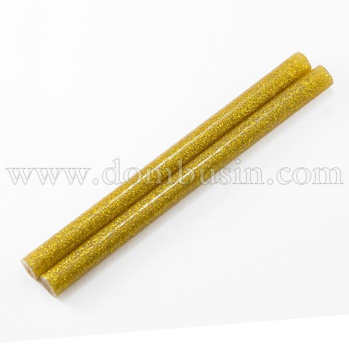 Стержни для Клеевого Пистолета с Глиттером, Цвет: Золотистый, Рамер 100х7мм, (УТ100016188)