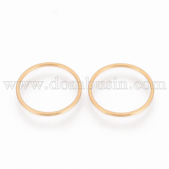 Коннектор Кольцо, Нержавеющая Сталь, Цвет: Золото, Размер: Диаметр 12мм, Толщина 0.8мм, (УТ100016399)