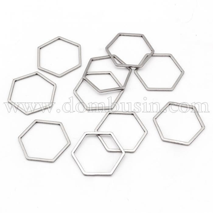 Коннектор Шестиугольник, Нержавеющая Сталь, Цвет: Сталь, Размер 13.5x12x0.8мм, (УТ100016400)