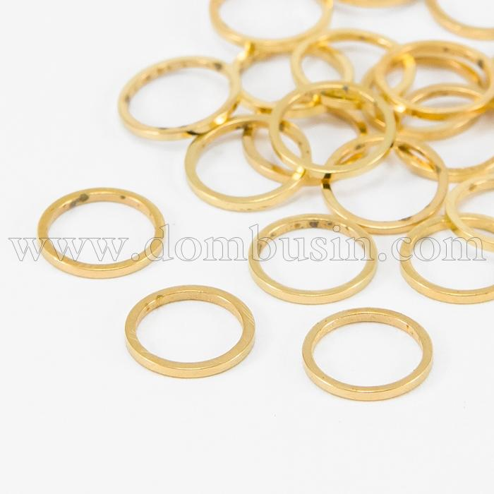 Коннектор Кольцо, Латунь, Цвет: Золото, Размер: 10х1мм, (УТ100016455)