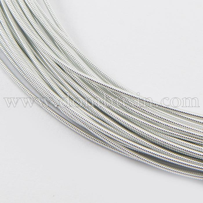 Канитель Жесткая, Цвет: Серебро, Диаметр 1.25мм, около 2.5м/10г, (УТ100016678)
