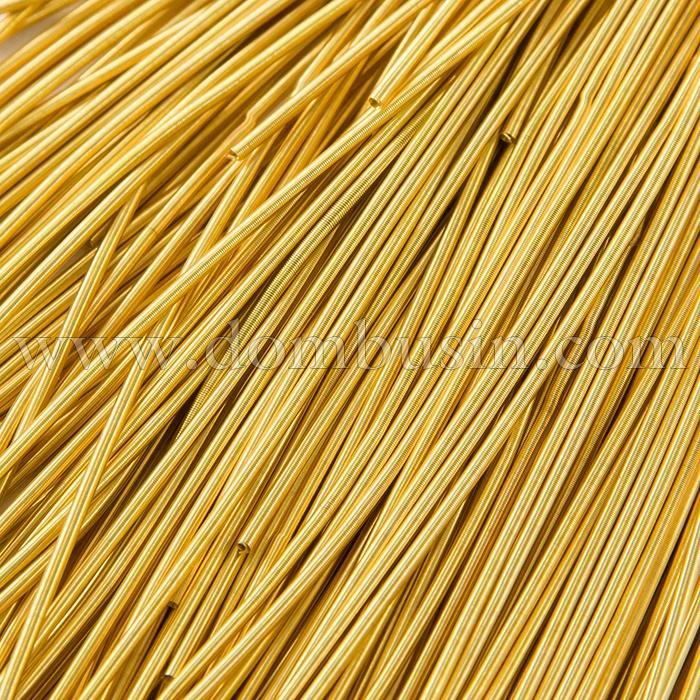 Канитель Мягкая, Цвет: Золото, Диаметр 1мм, отрезки не менее 8см, около 580см/10г, (УТ100016700)