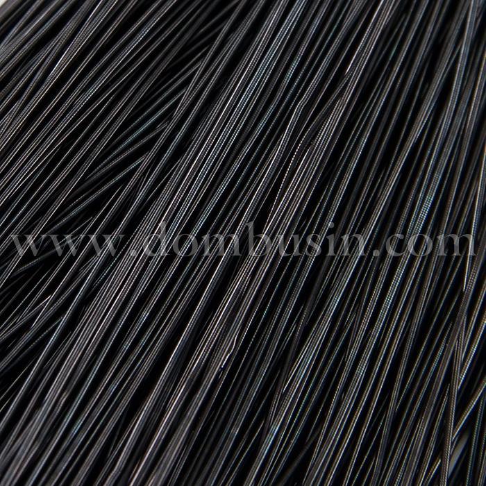 Канитель Мягкая, Цвет: Черный, Отрезки не Менее 25см, Диаметр 0.5мм, около 980см/10г, (УТ100016701)