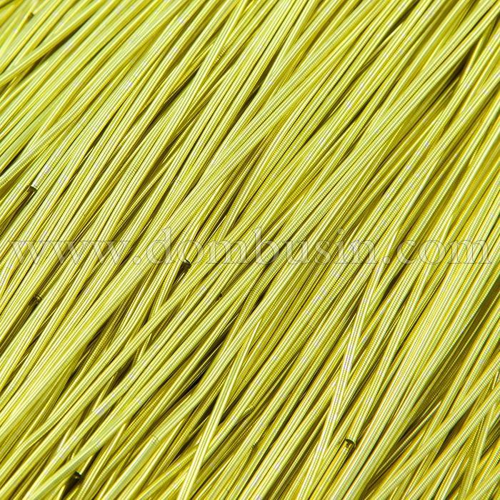 Канитель Мягкая, Цвет: Лимонный, Диаметр 1мм, Отрезки не Менее 8см, около 580см/10г, (УТ100016727)