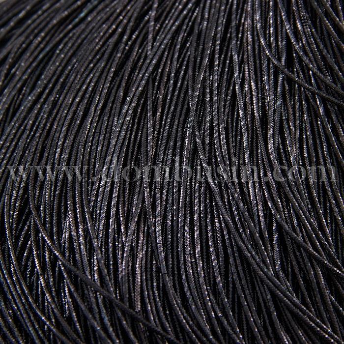 Канитель Трунцал 4 грани, Цвет: Черный, Отрезки не Менее 15см, Диаметр 1мм, около 490см/10г,(УТ100016731)